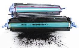 Cartidges do tonalizador da impressora Imagem de Stock