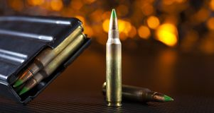 Cartidges et magazine pour un AR-15 Photo stock