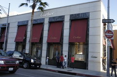 Cartier Building. The outlet of the Cartier Co. store is located in rodeo Drive in Beverly Hills, LA, CA., one of the finest Jewelry Store in the world Stock Photo