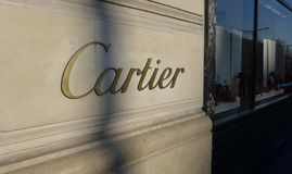 Cartier in Champs-�lysées Royalty Free Stock Photo