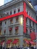 Cartier Christmas decorations stock photo