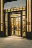 Cartier flagship store Ginza Tokyo. Entrance to Cartier flagship store at Chuo-dori, the main shopping street in the Ginza area. The street is home to many Royalty Free Stock Images