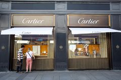 CARTIER JEWELERS IN VIENNA, AUSTRIA Royalty Free Stock Image