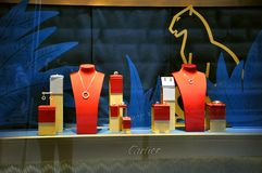 Cartier jewelry shop in Italy  Stock Images