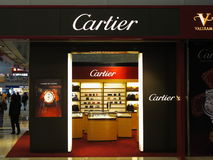 Cartier luxury brand Royalty Free Stock Photo