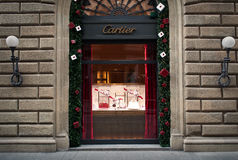 Cartier-Schaufenster Stockbild