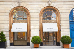Cartier shop in place Vendome in Paris, France Stock Image