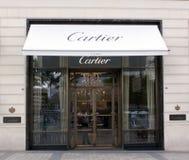 Cartier shoppar i Paris Fotografering för Bildbyråer