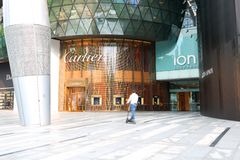 Cartier Store at Orchard Ion Stock Image