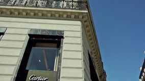Cartier Store in Parijs, Champs Elysee Royalty-vrije Stock Foto's