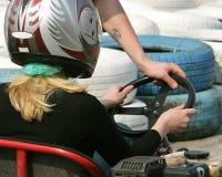 carting девушка пойдите Стоковые Фото