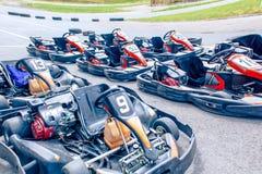 Carting машины на следе Стоковая Фотография RF