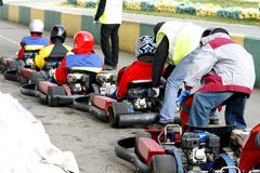 Carting cars Royalty Free Stock Images