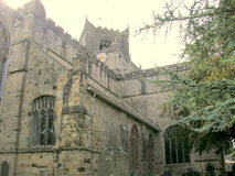 Cartmel Priory. The view of the Priory which is situated in the delightful parish of Cartmel Royalty Free Stock Photos