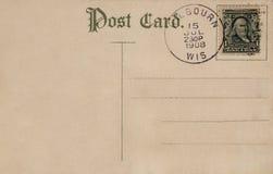 Cartão 1908 do vintage Fotografia de Stock Royalty Free
