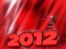 Cartão 2012 do ano novo Foto de Stock Royalty Free