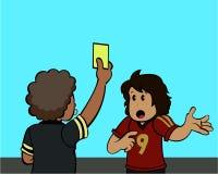 Cartão amarelo! Imagens de Stock Royalty Free