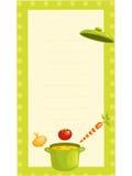 Cartão antiquado da receita Fotografia de Stock