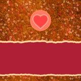 Cartão bonito do ` s do Valentim do vintage do cumprimento EPS 8 Fotos de Stock Royalty Free