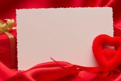 Cartão branco para felicitações Foto de Stock Royalty Free