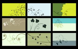 Cartão - coleção do vetor Foto de Stock