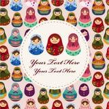 Cartão da boneca do russo Fotografia de Stock Royalty Free