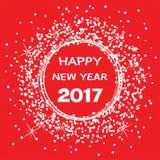 Cartão 2017 da celebração do ano novo feliz Fotografia de Stock Royalty Free