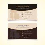 Cartão da forma ou da compra Imagens de Stock