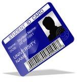 Cartão da identificação do estudante Fotos de Stock Royalty Free