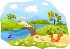 Cartão da mola Foto de Stock