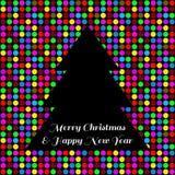 Cartão da árvore de Natal Imagem de Stock Royalty Free