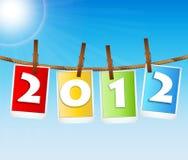 Cartão de 2012 vésperas de Ano Novo Fotografia de Stock Royalty Free