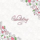 Cartão de casamento Fotos de Stock