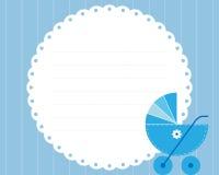 Cartão de chegada do bebé Imagem de Stock Royalty Free