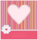 Cartão de chegada do bebê com frame da foto Fotos de Stock Royalty Free