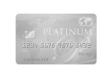 Cartão de crédito da platina Fotos de Stock Royalty Free