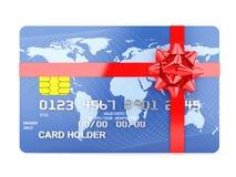 Cartão de crédito do presente Imagem de Stock