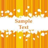 Cartão de cumprimentos com folhas de outono Imagem de Stock