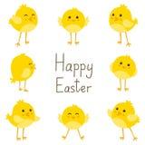 Cartão de Easter com galinhas Imagem de Stock