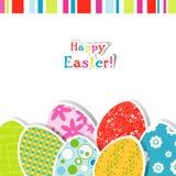Cartão de Easter do molde Fotografia de Stock Royalty Free