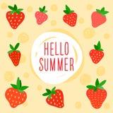 Cartão de horas de verão Fotos de Stock Royalty Free