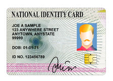 Cartão de identidade padrão Foto de Stock