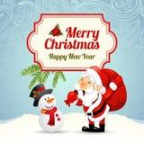 Cartão de Natal Imagens de Stock