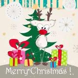 Cartão de Natal bonito Imagem de Stock Royalty Free