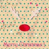 Cartão de Natal bonito Foto de Stock Royalty Free