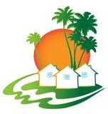 Cartão de Real Estate das casas Fotos de Stock Royalty Free