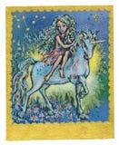 Cartão de Tarot - amizade Fotografia de Stock