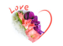 Cartão do amor - dia dos Valentim do St Fotos de Stock