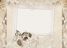 Cartão do amor do vintage com rosas Foto de Stock Royalty Free
