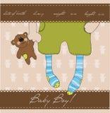 Cartão do anúncio da chegada do bebé Imagem de Stock